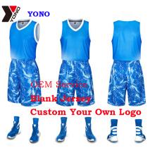 Poliéster 100% feito sob encomenda uniforme da camisa do esporte do homem do desgaste do basquetebol da cópia feita sob encomenda sublimada do basquetebol