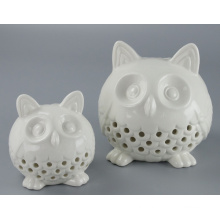 Hot Sale Decorative Ceramic Owl Candle Holder