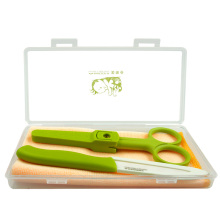 OEM Kitchen Ceramic Paring Knife & Scissors Set