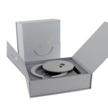 Cajas de regalo de papel de brazalete plegable de estampado en caliente de alta gama