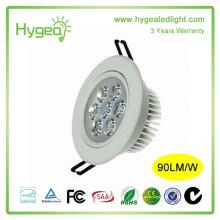 2015 горячих продаж высокое качество привело downlight 7W Энергосберегающие downlight AC 85-265V