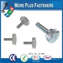 Taiwan Stainless Steel Flat M3 Knurled Head Screw Decorative Knurled Thumb Screw M4