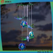 Libélulas solares Windchime para Gardon, fiesta y decoración del festival