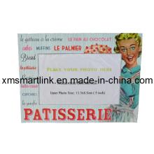 Impressão de fotos de lembrança Moldura de foto magnética, de alta qualidade Popular personalizado Ímanes de lembrança de OEM Moldura magnética de molas lisas
