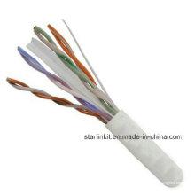 China Made Factory Price UTP Cat5e Câble LAN 1000FT Blanc
