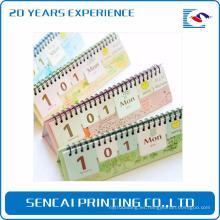 Calendario de escritorio de diseño personalizado de venta directa del fabricante de China