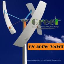 Pequeña turbina eólica vertical del sistema 0.3kw fuera de la red para las ventas