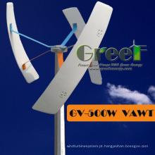 Turbina eólica pequena do sistema da Fora-Grade vertical 0.3kw para vendas