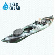 Kayak plástico de la paleta para el uso de la pesca de la sola persona