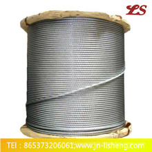 Cuerda de alambre de acero del elevador de 8 * 19s, 8 * 19W