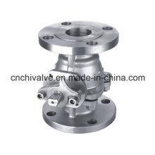 150lb aço inoxidável duas peças válvula de esfera flange