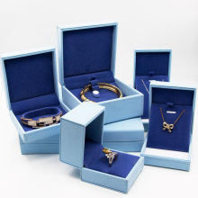 Blue luxury jewelry box for bracelets and necklaces