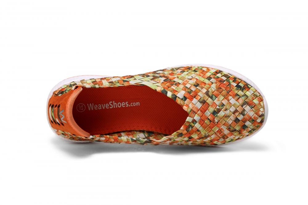 Orange Insole Woven Slip-ons