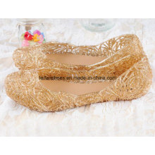 Lady Latest High Quality Crystal Jelly Sandals (FF614-4)