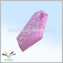 China zhejiang fábrica rosa metal flor parede montada suporte de arquivo para sala de economia de escritório