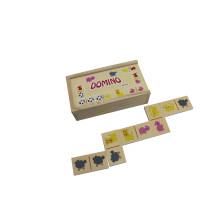 28pcs jouets en bois domino pour les enfants et les enfants