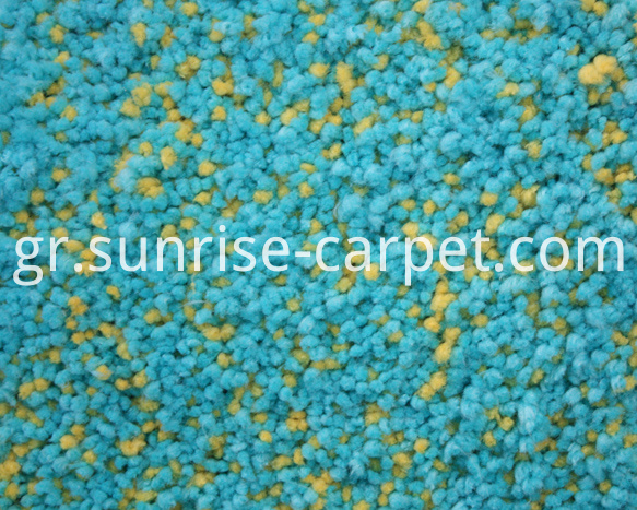 Microfiber Shaggy Rug Yellow and Blue mix Color