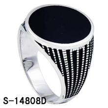 Klassischer 925 Sterling Silber Ring für Herren