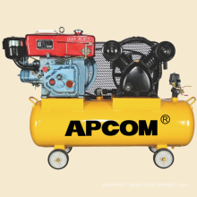 AV6012 6hp 16bar 22CFM 100 liter automobile tire inflation portable diesel air compressor