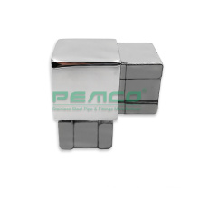 Railing Mirror Satin Non Adjustable 304 316 Stainless Steel 40x40mm Square Tube Connectors