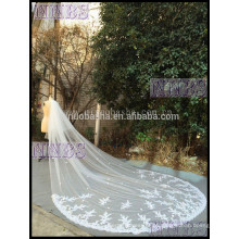 Glamours 2015 Real Sample Church Tail Branco Tulle Com Lace Applique NB2001