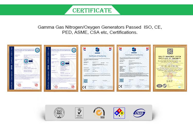 Oxygen Generator Certificate