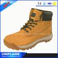 Elegantes botas de trabajo de cuero nobuk Ufa096