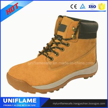 Stylish Nubuck Leather Work Safety Boots Ufa096