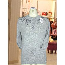 100% cachemira tejer suéter Intarsia