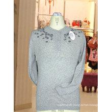 100%cashmere knitting Intarsia sweater