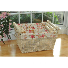 Corn Skin Woven Basket with Fsc&BSCI
