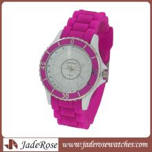 Purple Silicone Strap Ladies Fashion Wrist Watch
