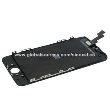 LCD display assembly for iPhone 5S, includes LCD panel, front glass and frame bezel