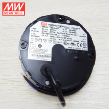 Original MEANWELL 60W 1400mA led driver round shape UFO with UL CE CB HBG-60-1400