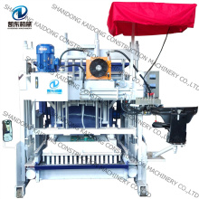 Top quality mobile cement concrete block making machine QTM10-15 small machines for home business