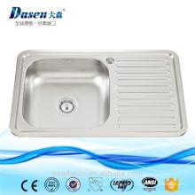 Fregadero de lavado de plato de inox con tablero de drenaje 7848
