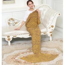 Yellow Mermaid blanket, adult mermaid blanket