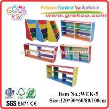 2014 estante de madeira nova para crianças, estante de madeira de jardim de infância popular, estante de jardim de infância de venda quente