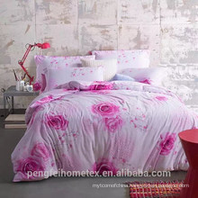 Pretty printed polyester microfiber fabric for bedding sheet on sale