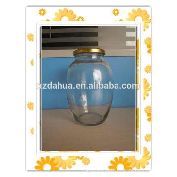 Round Shape High-Capacity Glass Food Storage Jar Pickle Jar with Cap