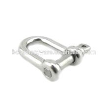 Moda alta qualidade metal aço inoxidável d manilha
