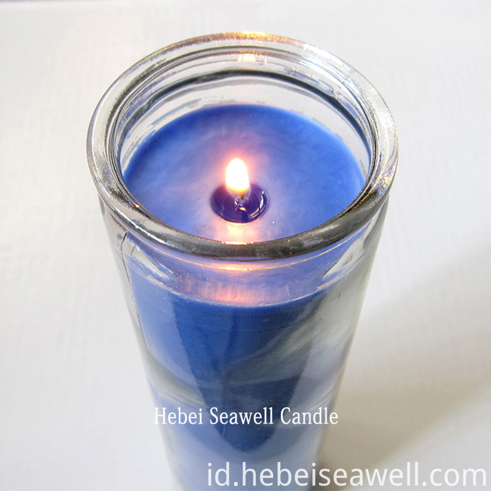 7 days glass jar candle burning