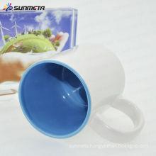 Sunmeta factory supply good quality 11oz coated inner color porcelain mug for sublimation
