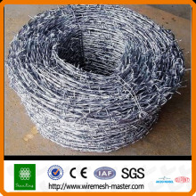 Galvanized or PVC Coated Barbed Wire Fence