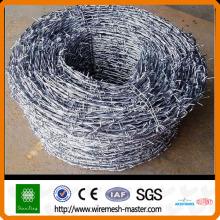 Cerca de arame farpado revestida de galvanizado ou PVC