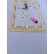 Panneau blanc magnétique OEM avec panneau blanc effaçable en bois