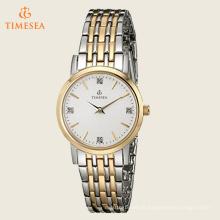 Mulheres de diamante acentuado pulseira de prata relógio de pulso 71211