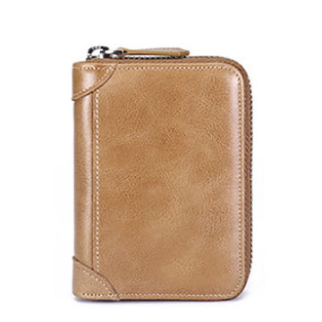 Liten Safe Leather Card Holder Wallet Rfid Väska
