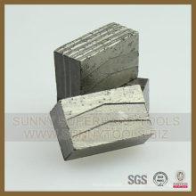 Segmento de hoja de sierra de granito Segmento de diamante de granito para piedra de granito
