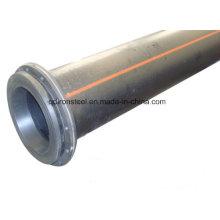 HDPE dragagem tubo com flange